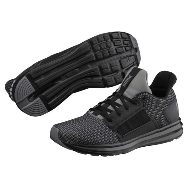 Enzo Street Knit Men's Running Shoes, QUIET SHADE-Puma Black, large
