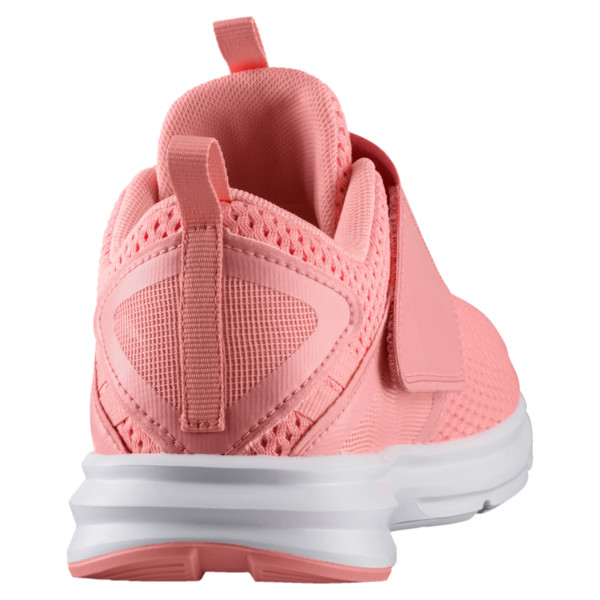 Enzo Strap Mesh Women's Trainers, Soft Fluo Peach-Puma White, large