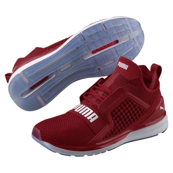 IGNITE Limitless Weave Men's Running Shoes, Red Dahlia-Puma White, large