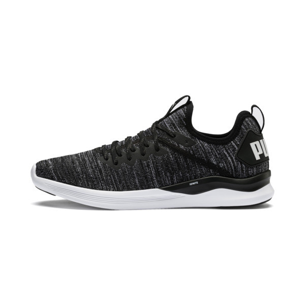 Zapatillas de training de hombre IGNITE Flash evoKNIT, Black-Asphalt-White, grande