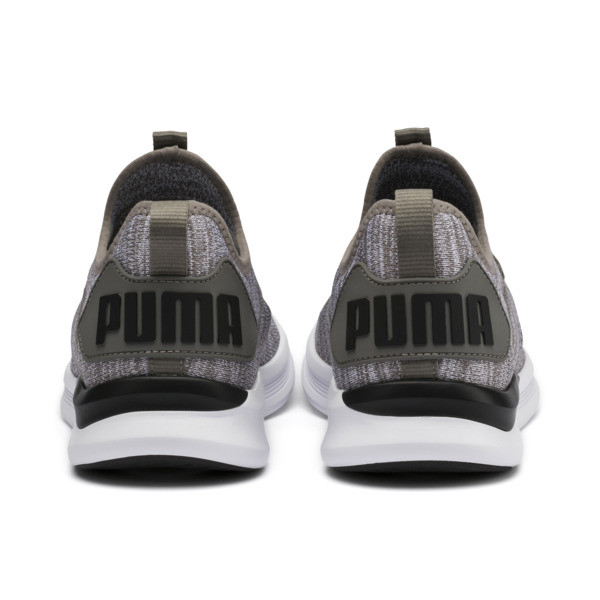 IGNITE Flash evoKNIT Herren Sneaker, Steel Gray-Puma Black, large