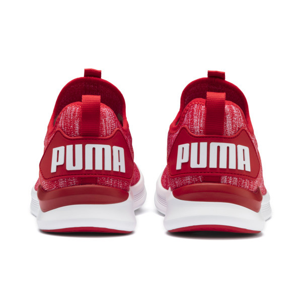 IGNITE Flash evoKNIT Herren Sneaker, High Risk Red-Puma White, large
