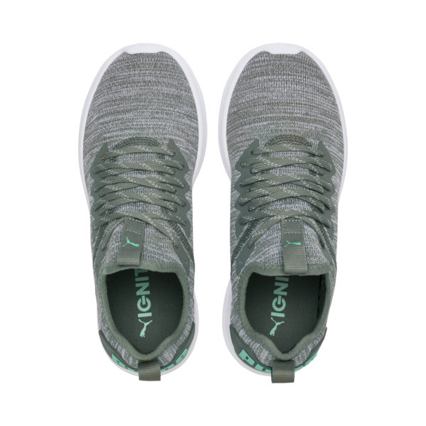 IGNITE Flash evoKNIT Women's Training Shoes, Laurel Wreath-Quarry-Green, large
