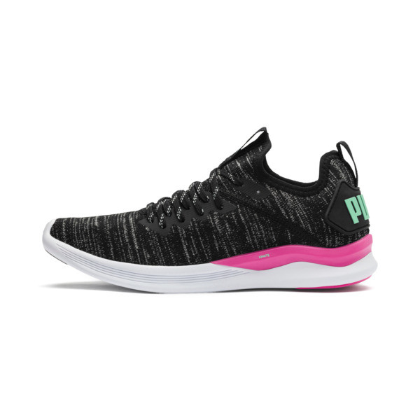 IGNITE Flash evoKNIT Women's Running Shoes, Black-PINK-Biscay Green, large