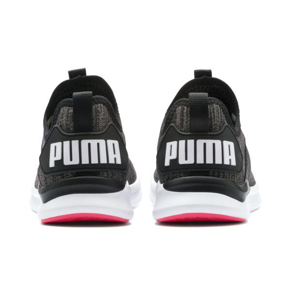 IGNITE Flash evoKNIT hardloopschoenen voor vrouwen, Black-White-Pink Alert, large