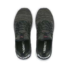 Thumbnail 7 van IGNITE Flash evoKNIT hardloopschoenen voor vrouwen, Black-White-Pink Alert, medium