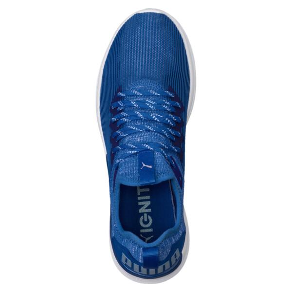 IGNITE Flash Stripped Men's Running Shoes, Turkish Sea-Puma White, large