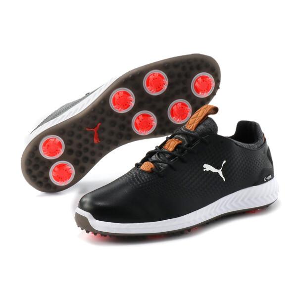 ゴルフ イグナイト パワーアダプト レザー スパイクシューズ, Puma Black-Puma Black, large-JPN