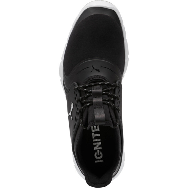 IGNITE PWRSPORT Men's Golf Shoes, Black-Silver, large