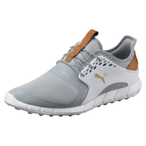 Thumbnail 1 of IGNITE PWRSPORT Men's Golf Shoes, Quarry-Gold-White, medium