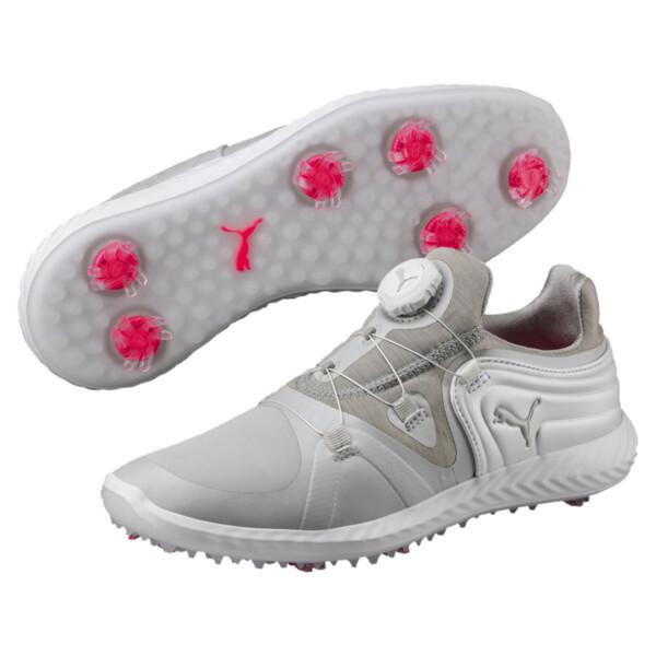 ゴルフ イグナイト ブレイズ スポーツ ディスク ウィメンズ スパイクシューズ, Gray Violet-White, large-JPN