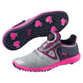Thumbnail 2 of IGNITE Blaze Sport DISC Women's Golf Shoes, Quarry-KNOCKOUT PINK, medium