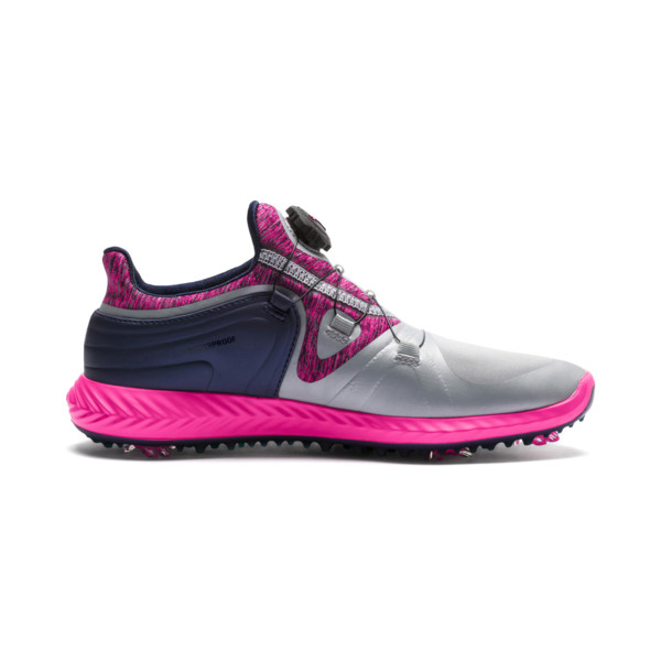 IGNITE Blaze Sport DISC Women's Golf Shoes, Quarry-KNOCKOUT PINK, large