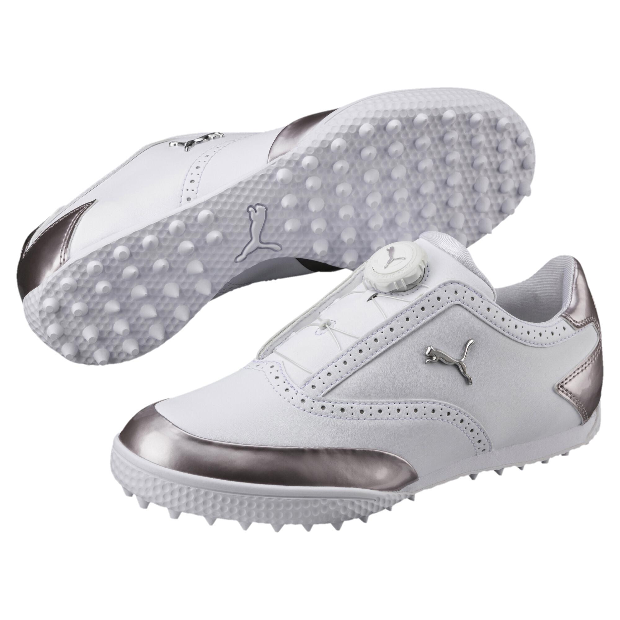プーマ ゴルフ モノライトキャット ディスク ウィメンズ スパイクレスシューズ ウィメンズ White-Silver |PUMA.com
