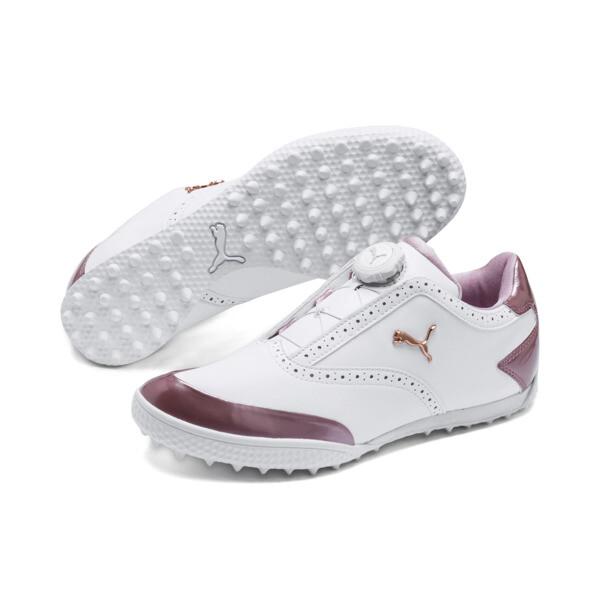 ゴルフ モノライトキャット ディスク ウィメンズ スパイクレスシューズ, White-Metallic Pink, large-JPN