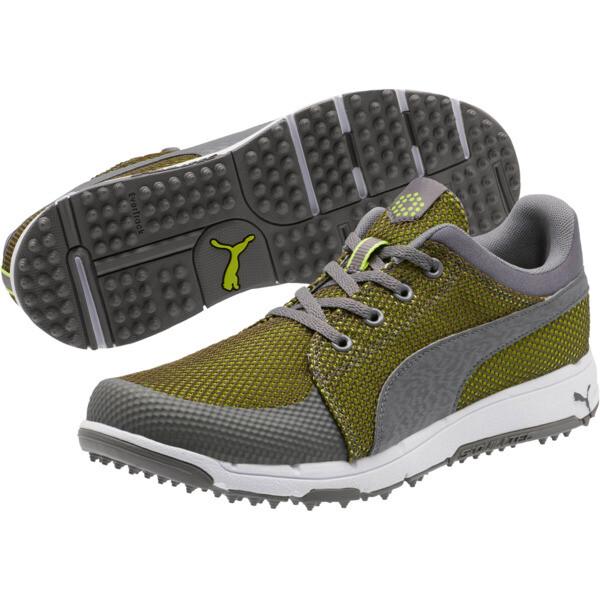 GRIP Sport Tech Men's Golf Shoes, QUIET SHADE-QUIET SHADE-Lime, large