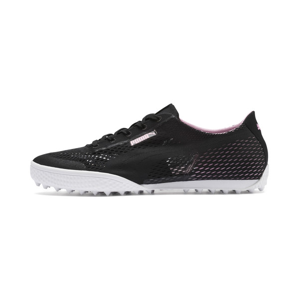 Monolite Cat Woven Women's Golf Shoes, Puma Black-Pale Pink, large