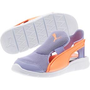 Thumbnail 2 of Bao 3 Open Little Kids' Shoes, Sweet Lavender-Fluo Peach, medium