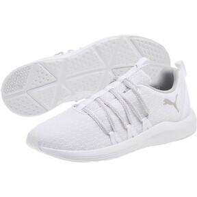 Thumbnail 2 of Prowl Alt Knit Mesh Women's Running Shoes, Puma White-Metallic Beige, medium