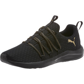 Thumbnail 1 of Prowl Alt Knit Mesh Women's Running Shoes, Puma Black-Metallic Gold, medium