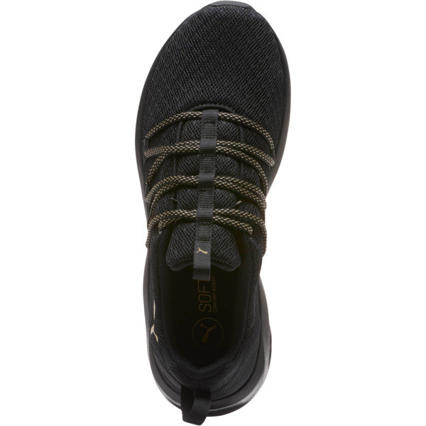 Prowl Alt Knit Mesh Women's Running Shoes, Puma Black-Metallic Gold, large