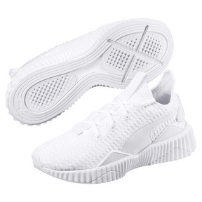 Thumbnail 2 of Defy Damen Sneaker, Puma White-Puma White, medium