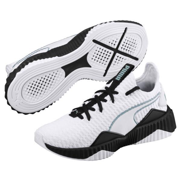 Defy Women's Training Shoes, Puma White-Puma Black, large