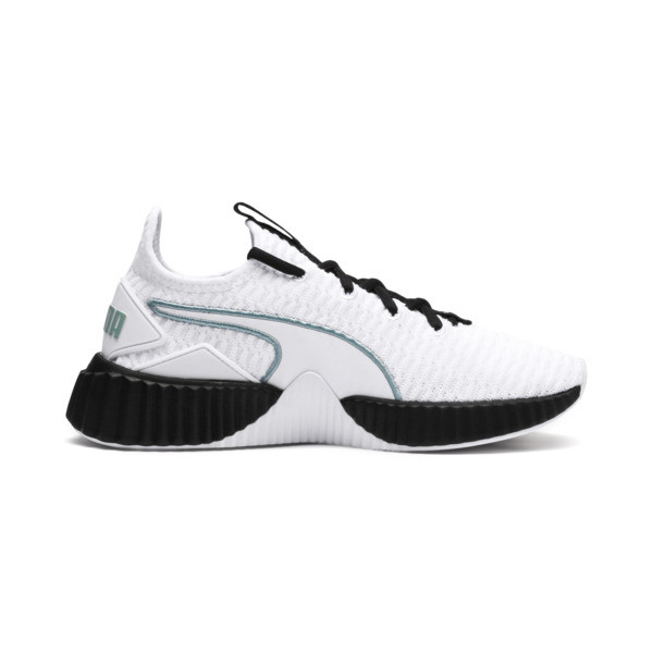 Defy Women's Trainers, Puma White-Puma Black, large
