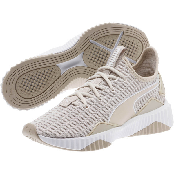 Defy Women's Sneakers, Silver Gray-Puma White, large