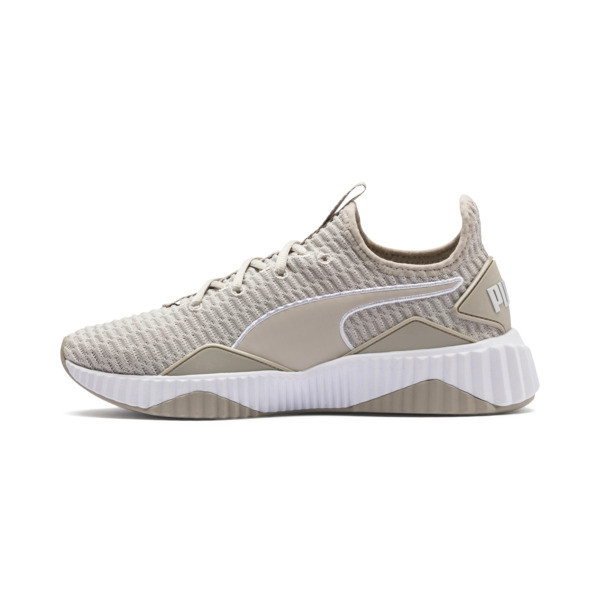 Defy Women's Trainers, Silver Gray-Puma White, large