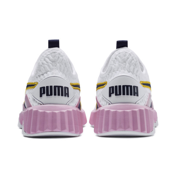 Defy Women's Sneakers, Puma White-Pale Pink, large