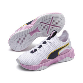 Thumbnail 2 of Defy Women's Trainers, Puma White-Pale Pink, medium