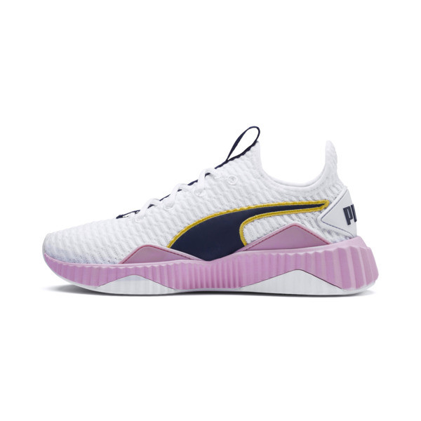 Defy Women's Trainers, Puma White-Pale Pink, large