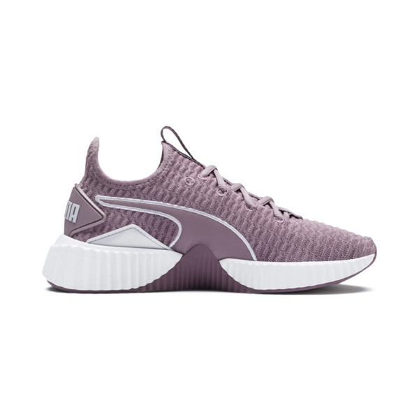Defy Women's Sneakers, Elderberry-Puma White, large