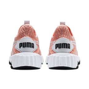 Miniatura 4 de Zapatos de entrenamiento Defy para mujer, Peach Bud-Puma White, mediano
