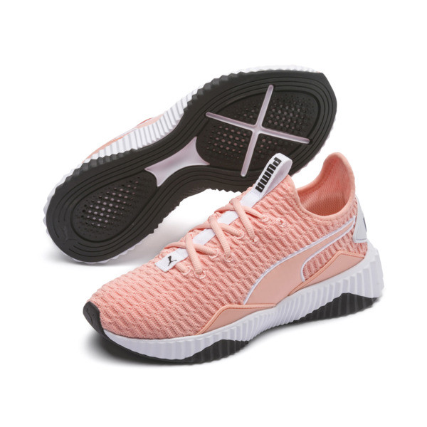 Defy Women's Sneakers, Peach Bud-Puma White, large