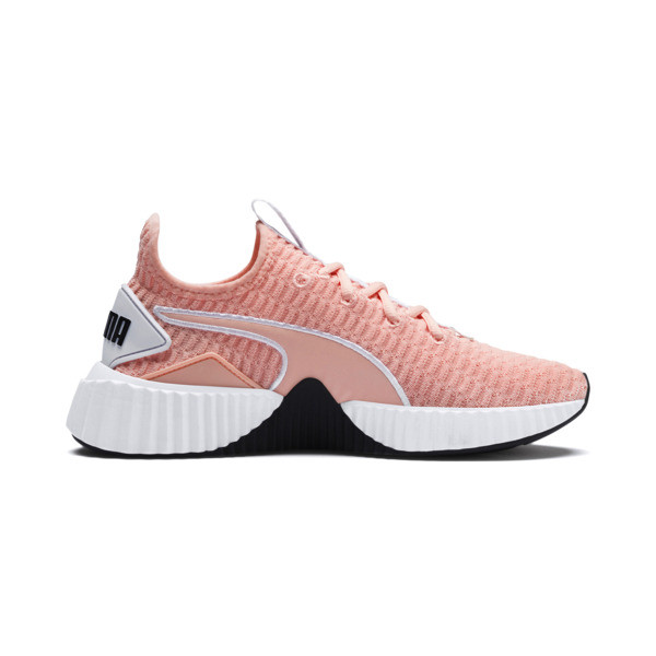 Defy Women's Trainers, Peach Bud-Puma White, large