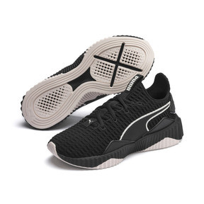 Thumbnail 3 of Defy Women's Trainers, Puma Black-Pastel Parchment, medium