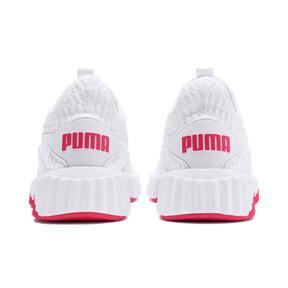 Miniatura 4 de Zapatos de entrenamiento Defy para mujer, Puma White-Pink Alert, mediano