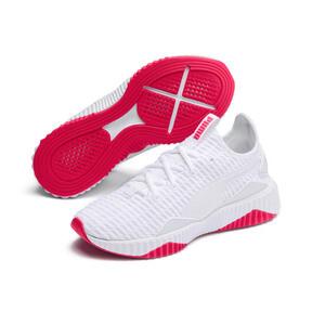 Miniatura 3 de Zapatos de entrenamiento Defy para mujer, Puma White-Pink Alert, mediano