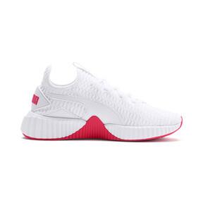 Miniatura 6 de Zapatos de entrenamiento Defy para mujer, Puma White-Pink Alert, mediano