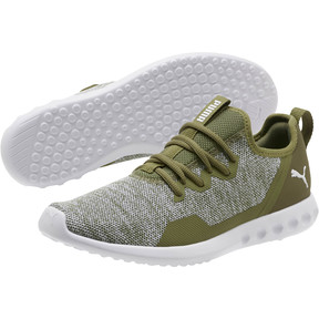 Thumbnail 2 of Carson 2 X Knit Men's Running Shoes, Olivine-Puma White, medium