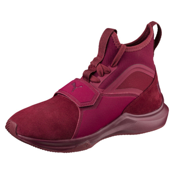 Phenom Suede Women's Training Shoes, Cordovan-Cordovan, large