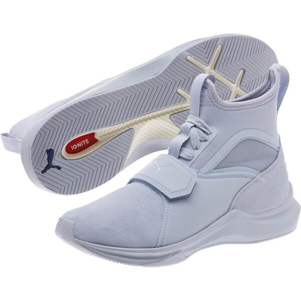 Phenom Suede Women's Training Shoes, Icelandic Blue-Icelandic, large