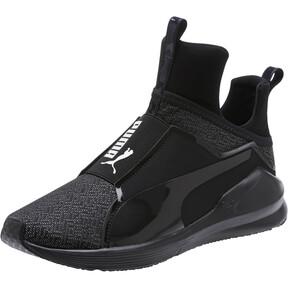 Thumbnail 1 of Fierce Varsity Knit Women's Sneakers, Puma Black-Puma Black, medium
