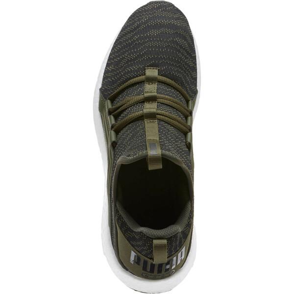 Mega NRGY Zebra Men's Running Shoes, Forest Night-Puma White, large