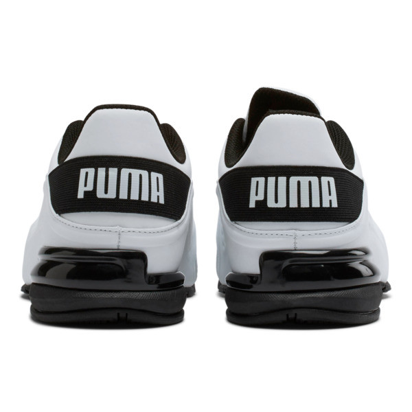Viz Runner Men's Running Shoes, Puma White-Puma Black, large