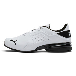 Thumbnail 1 of Viz Runner Men's Running Shoes, Puma White-Puma Black, medium