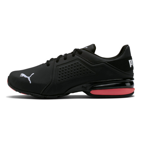 Viz Runner Men's Running Shoes, Puma Black-Puma White, large