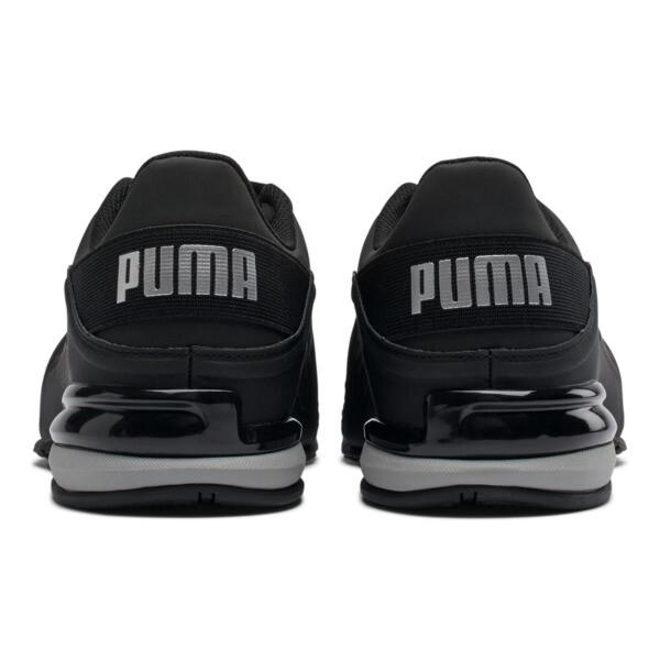 Viz Runner Men's Running Shoes, Puma Black-Puma Silver, large